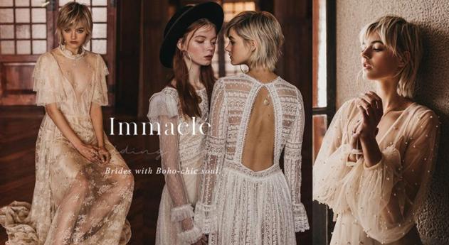 西班牙Immaclé「Senda」婚紗系列 為崇尚自由的新娘描繪浪漫愛情