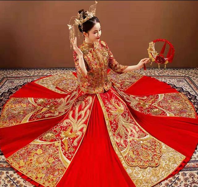 十二星座的中式改良婚紗,白羊座燙鑽輕奢風,巨蟹座的很古典