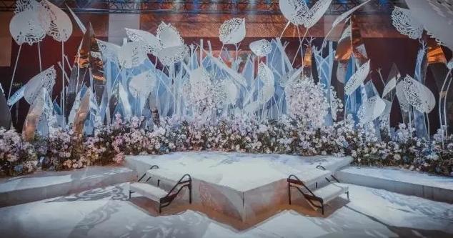 清新藍白色婚禮,你是我的幸運—婚禮佈置