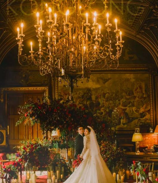 在兩百多年歷史的英國Eastnor Castle古堡裡辦婚禮,是一種什麼樣的體驗?